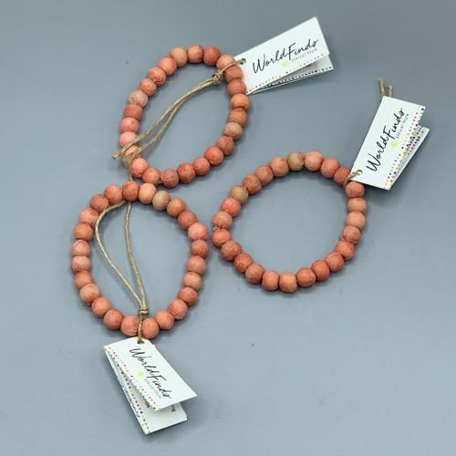 Kantha Jewelry - Chromatic Salmon Bracelet