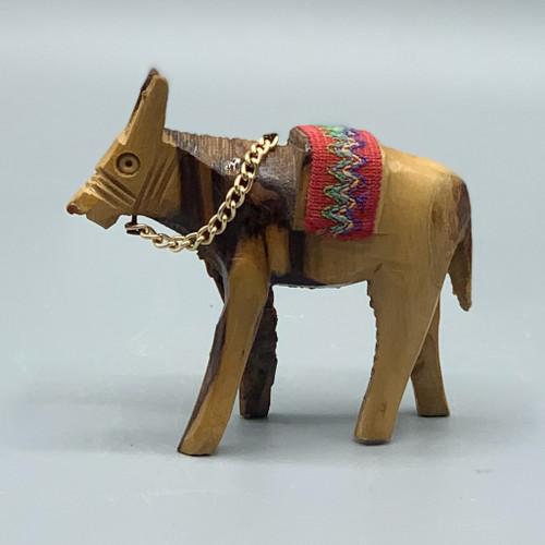 Mini Wood-Carved Donkey