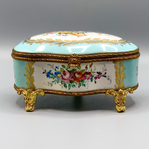 Antique French Casket Jewelry Box, 1920s