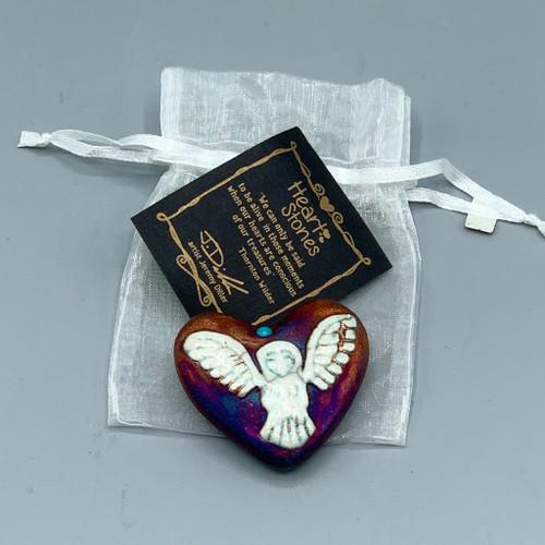 Raku Pottery Heartstone