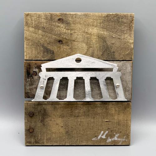 Metal & Reclaimed Wood Art by John Wilcoxon - Medium Ole Miss Lyceum