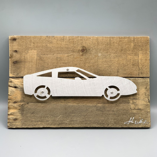 Metal & Reclaimed Wood Art by John Wilcoxon - Large Cadillac