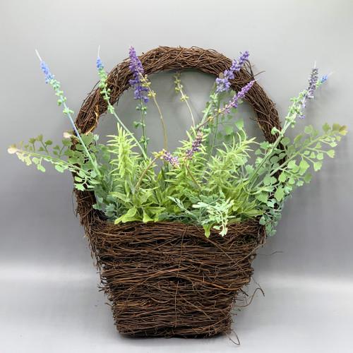 Faux Lavender Wall Basket
