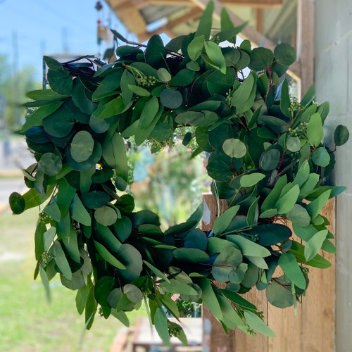 Mixed Faux Eucalyptus Wreath