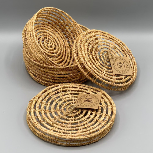 Hand-Woven Palm Box w/Lid