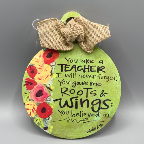 Teacher, Roots & Wings Ornament