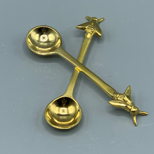 Brass Spoon with Bee