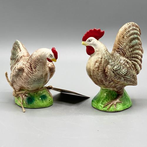 Pair of Vintage Ceramic Decorative Chickens