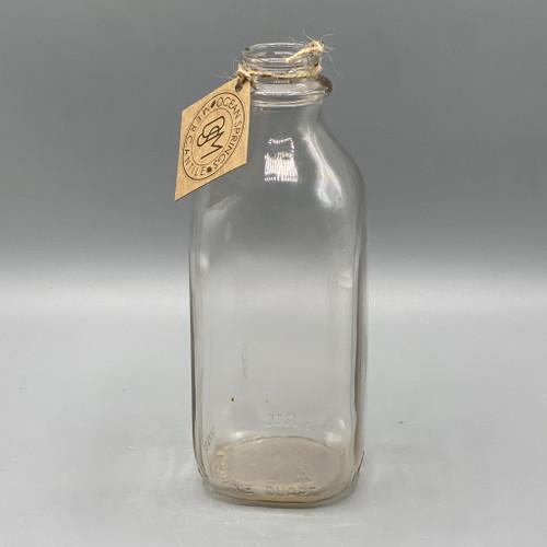 Vintage Duraglass Milk Bottle, 1 quart