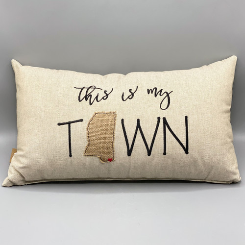 This is my Town, Ocean Springs, Throw Pillow