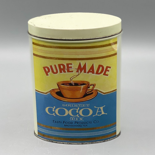 Pure Made Gourmet Cocoa Mix Vintage Tin