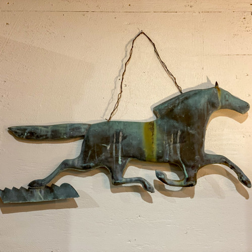 Antique Copper Horse Weathervane