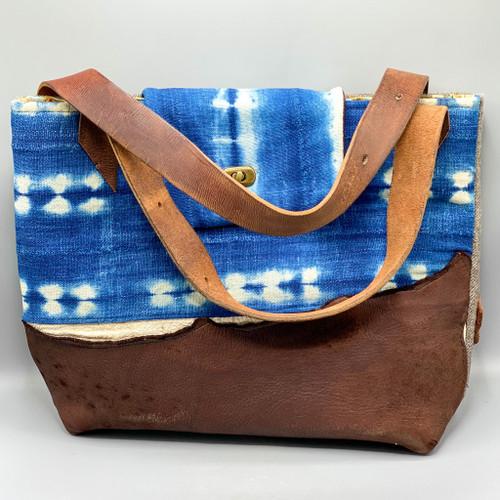 Weekender Mud Cloth & Leather Bag