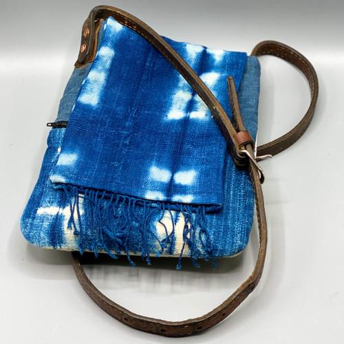 Vintage Mud Cloth Fringe Crossbody