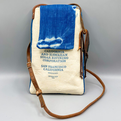 Mud Cloth / Feed Sack Crossbody Bag
