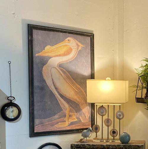 Wood Framed Pelican Wall Decor