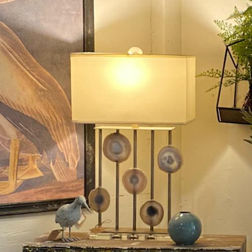 Agate & Crystal Table Lamp