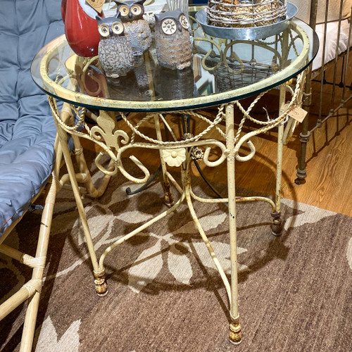 Iron Table with Glass