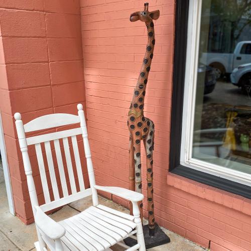 Decorative 6' Wooden Giraffe