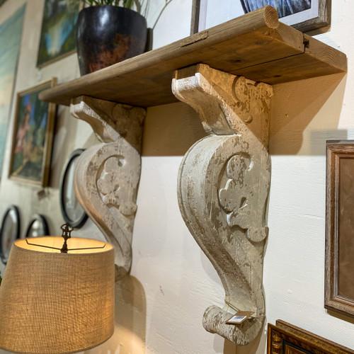 Wood Shelf with 2 Corbels