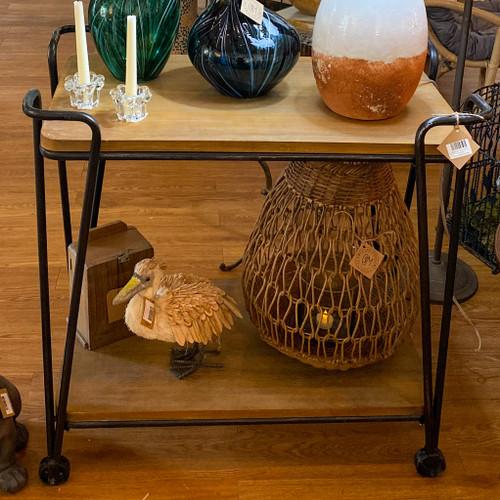 Mango Wood & Iron Table / Bar Cart