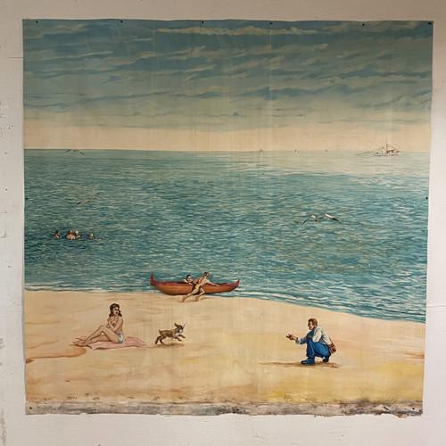 Beach Scene #1 Canvas Mural, Kuper '48