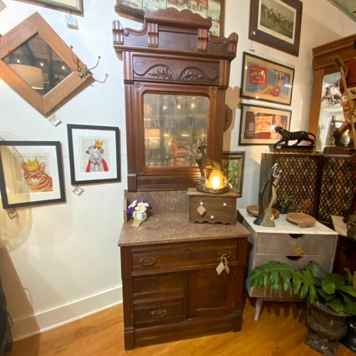 Eastlake Dresser - Antique Marble Vanity