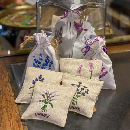 Lavender Sachet, drawstring & velcro
