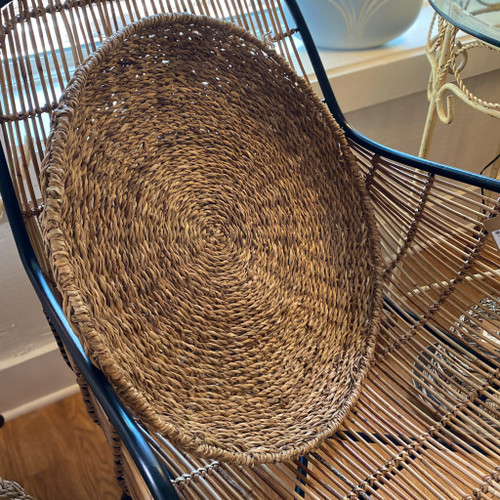 Round Hand-Woven Seagrass Tray