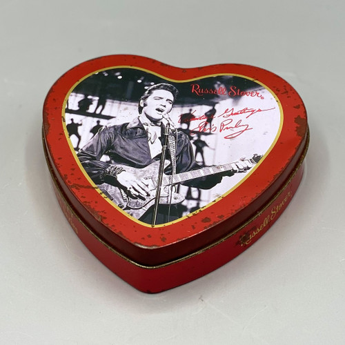 Russell Stover Tin Heart, Elvis Presley Collector's Series