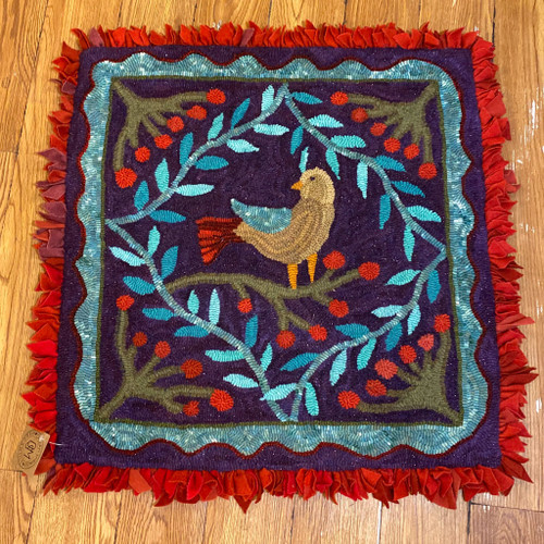 Handmade Bird Wool Rug, Faith Williston