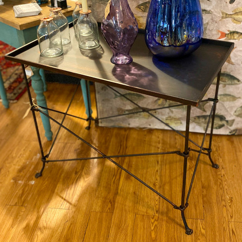 Bronze Finish Metal Rectangular Table