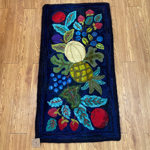 Handmade Fruit Bowl Wool Rug, Faith Williston