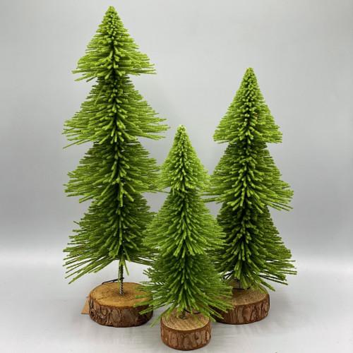 Bottle Brush Pine Tree on Base