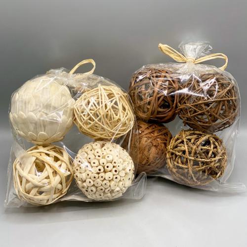 4 pack Natural Balls for bowl fillers