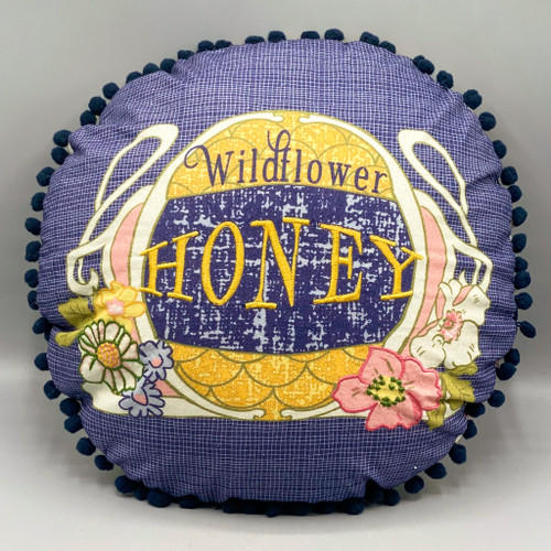 Round Wildflower Honey Pillow