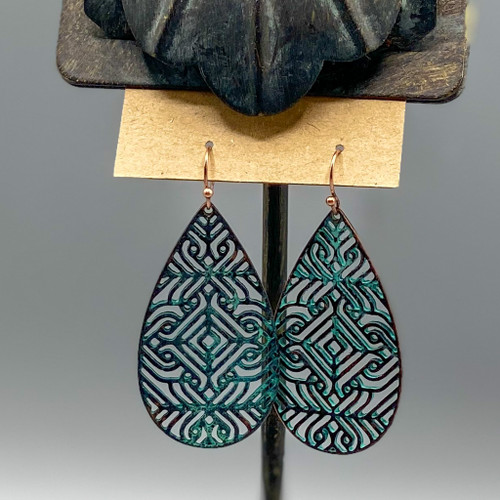 Patina Swirl Pattern Earrings