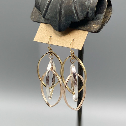 Multi Triple Ellipse Earrings