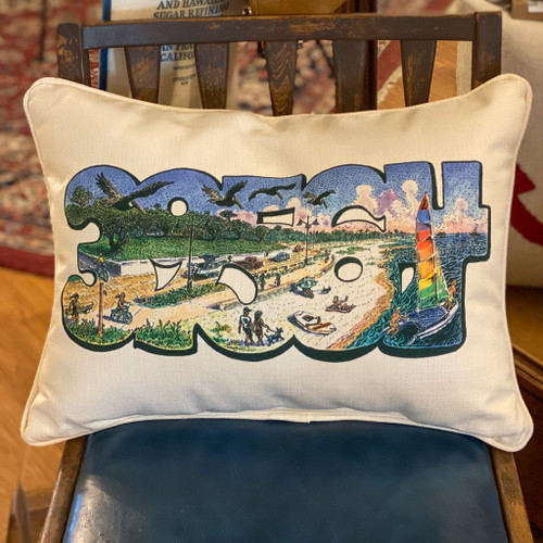 39564 (Ocean Springs Zip Code) Stig Marcussen Art Pillow