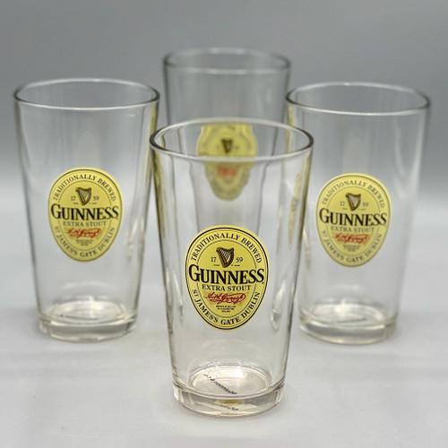 Set of 4 Guinness Beer Glasses