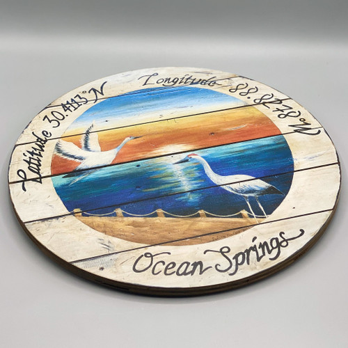 Ocean Springs Crane Lazy Susan