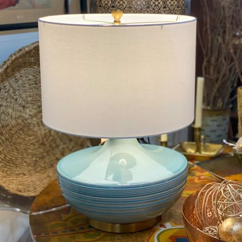 Aqua Ceramic Table Lamp