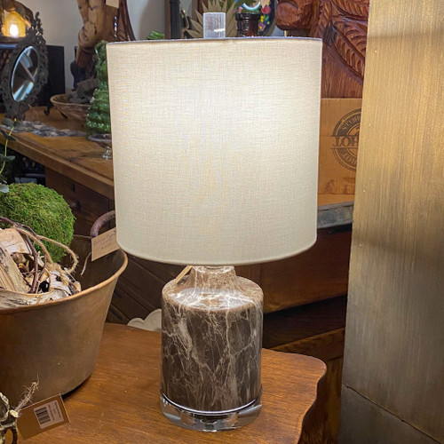 Faux Dark Marble Table Lamp