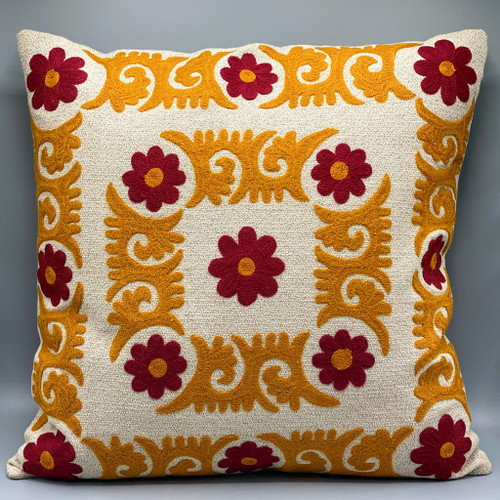 Square Embroidered Pillow