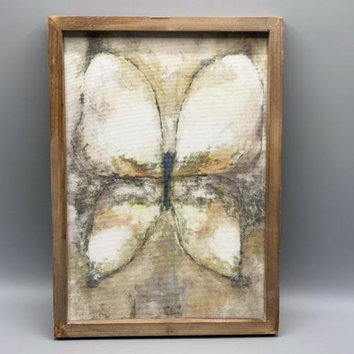 Wood Framed Butterfly Wall Decor
