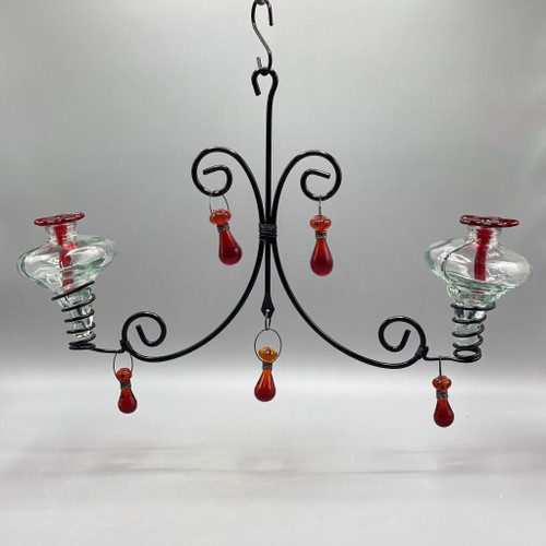 2 Hummingbird Feeder Chandelier