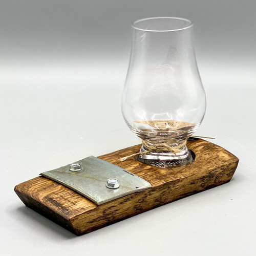 Barrel Art Whiskey Coaster w/ Glencairn Glass