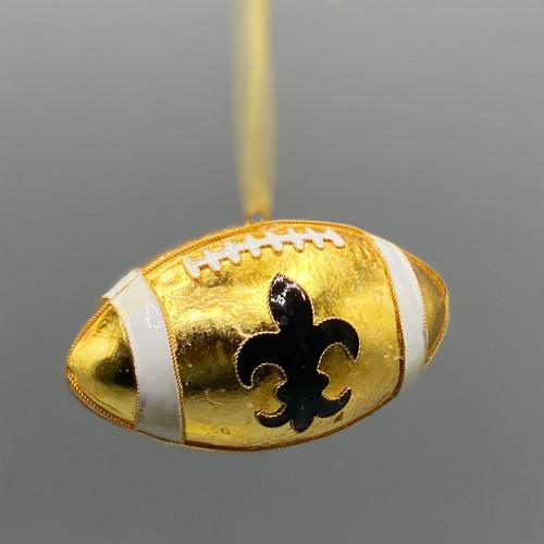 Fleur de Lis Black & Gold Cloisonné Ornament