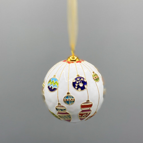 Ornaments Hanging White Cloisonné Ornament