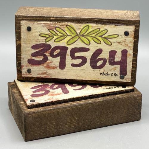 39564, Ocean Springs zip code Happy Block, made in MS